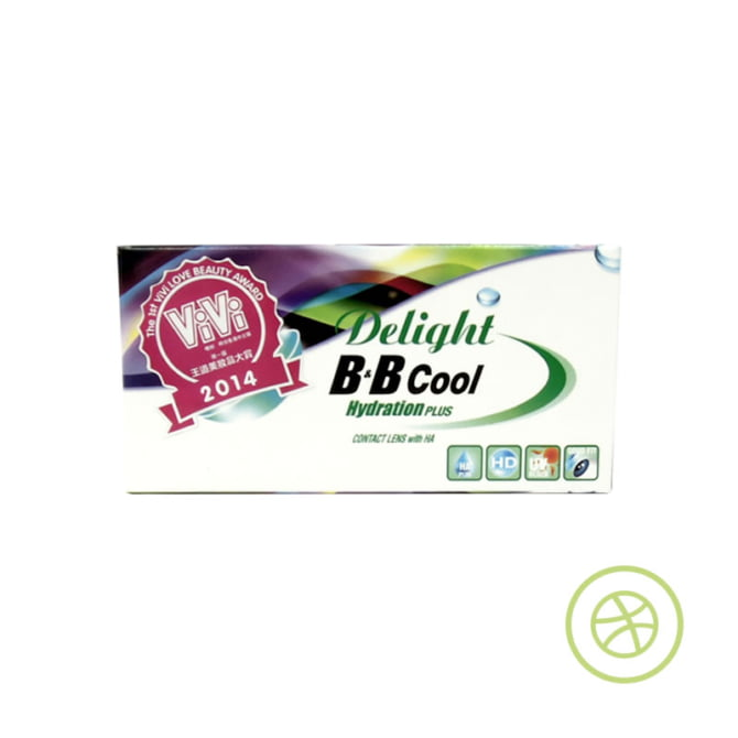 Delight B&B Cool HydrationPLUS 定期更換彩色即棄隱形眼鏡